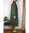 Manteau long d'inspiration militaire - Profil