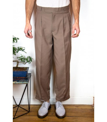 Pantalon à double pinces - Face