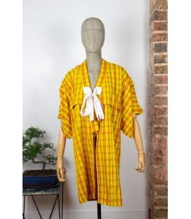 Kimono long à carreaux - Taille S