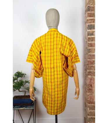 Kimono long à carreaux - Dos