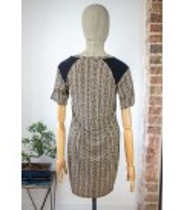 Robe bicolore multimatière - Taille 34 (FR)