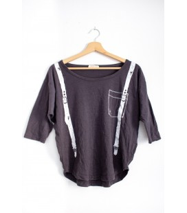 Top oversize 'BROWNY' - Taille M / L