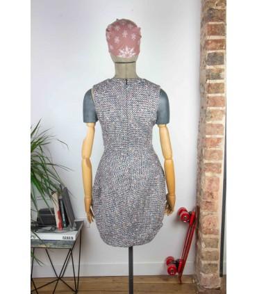 Robe texturée multicolore - Taille S/M