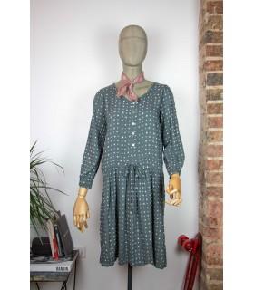 Robe à pois à manches longues 'Journal Standard' - Taille L